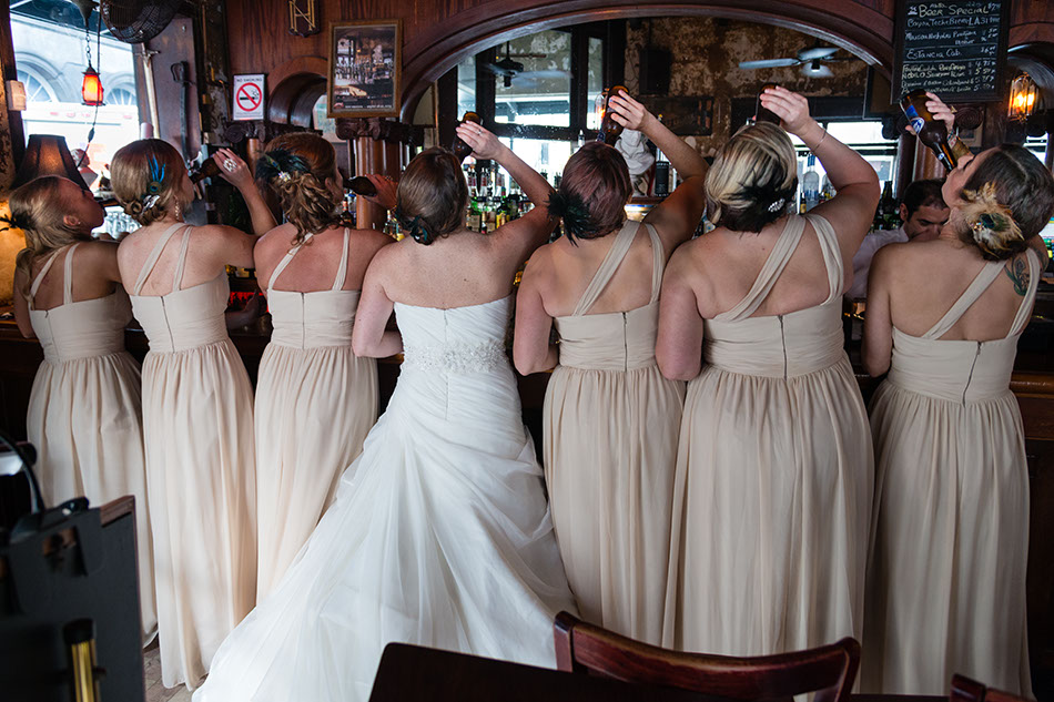 The Bride Gets A Drink