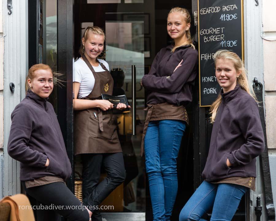 Four Tallinn Waitresses