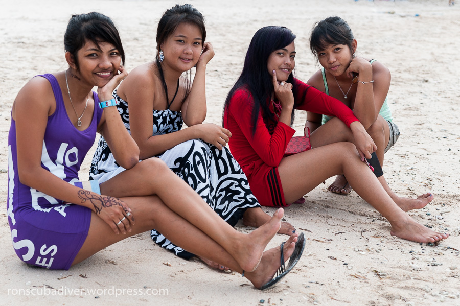 Four Girls on The Beach