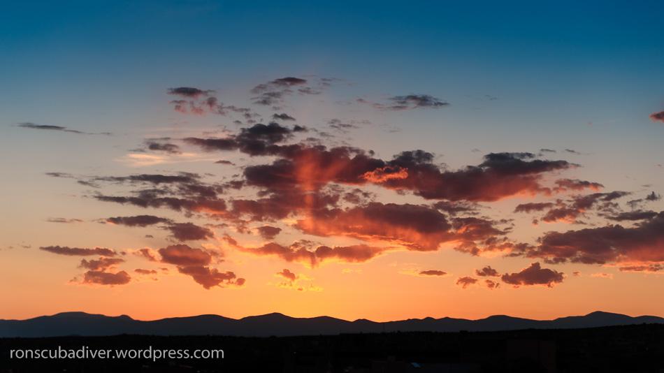 Sunset on Return to Santa Fe