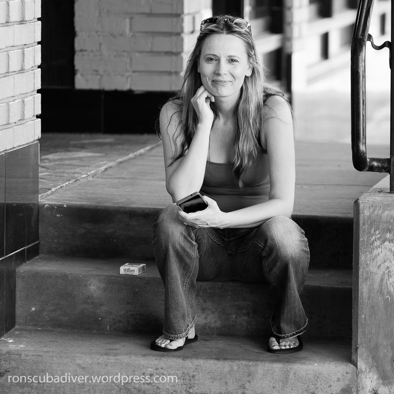 Reno Girl on a Stoop
